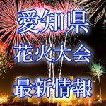 愛知県の花火大会 2018年開催日程・打ち上げ時間 穴場スポットや交通アクセス情報など