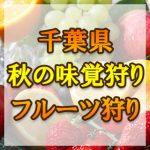 千葉県(関東)秋の味覚狩り・果物狩りスポット2018年
