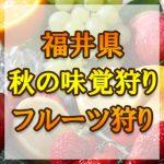 福井県 秋の味覚狩り・果物狩りスポット2018年
