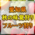 愛知県 秋の味覚狩り・果物狩りスポット2018年