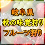 岐阜県 秋の味覚狩り・果物狩りスポット2018年
