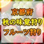 京都府(関西) 秋の味覚狩り・果物狩りスポット2018年