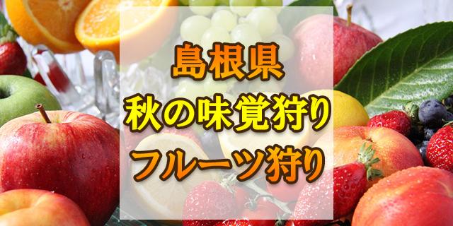 秋の味覚狩り 島根県