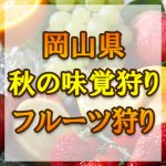 岡山県 秋の味覚狩り・果物狩りスポット2018年 ぶどう/柿/みかん狩りなど