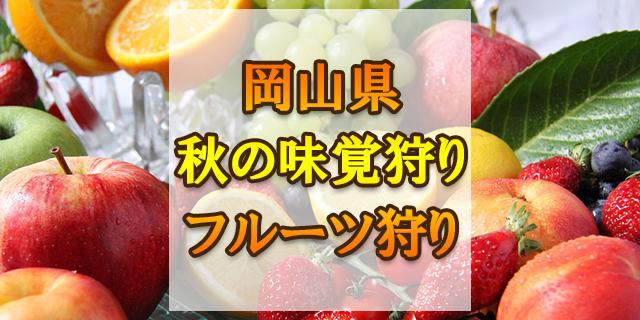 秋の味覚狩り 岡山県