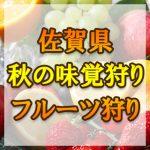 佐賀県(九州) 秋の味覚狩り・果物狩りスポット2018年