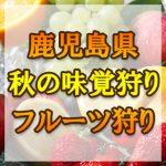 鹿児島県(九州) 秋の味覚狩り・果物狩りスポット2018年 ぶどう/梨/みかん/キウイ狩りなど