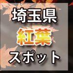 埼玉県 紅葉のおすすめ名所・穴場スポット 2018年見ごろ時期/ライトアップ/駐車場情報など