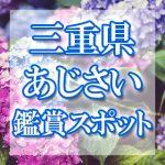 三重県のあじさい鑑賞スポット・名所・穴場 2019年の見ごろ・開花・紫陽花祭り情報