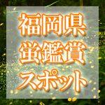 福岡県(九州)のホタル観賞スポット・名所/穴場 2019 見ごろの時期は?