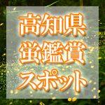 高知県(四国)のホタル観賞スポット・名所/穴場 2019 見ごろの時期は?